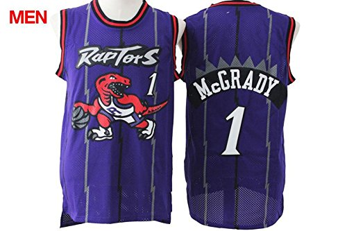 Mens Brand New Retro Jersey, Toronto Raptors #1 Tracy McGrady Purple XXL