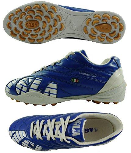 PROFESSIONAL AGLA FANTHOM AIR OUTDOOR zapatos de fútbol con tapa anti-shock turquesa