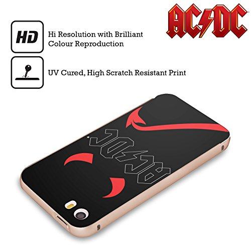 Officiel AC/DC ACDC Klaxons Et Queue Iconique Or Étui Coque Aluminium Bumper Slider pour Apple iPhone 5 / 5s / SE