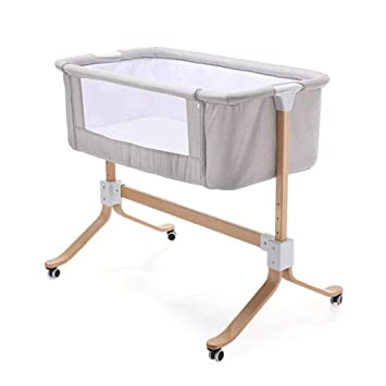 Amazoncom Baby Cot Multifunctional Newborn Solid Wood Bedside Bed