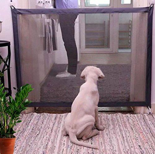 KIKIGOAL Magic Gate Portable Folding Safe Guard Install Anywhere,Animals Favorite Pet Retractable Safety Gate (110x72cm) by KIKIGOAL (Image #8)