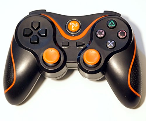 FSC Wireless Remote PS3 Controller Gamepad for use with PlayStation 3 (Black&Orange)