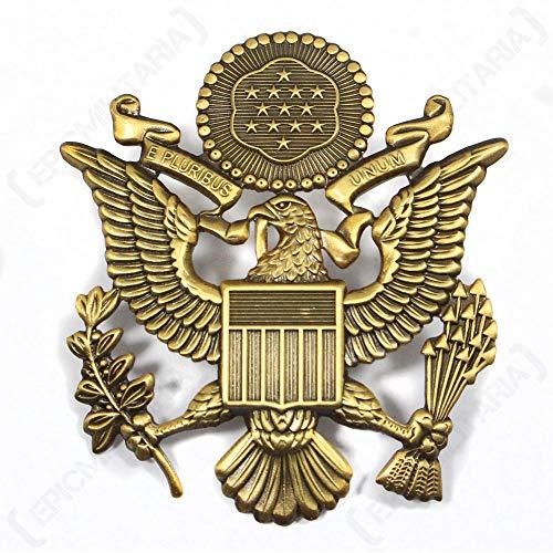 (Fosco Replica US Army Officer Visor Cap Badge - Antique)
