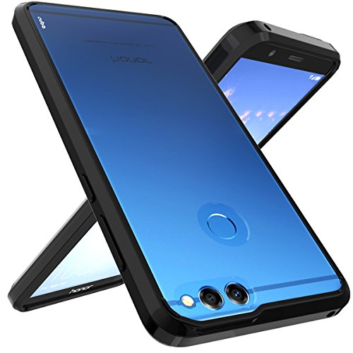Huawei Honor 7X Case, Huawei Mate SE Case, OUBA [Shock Absorption] Air Hybrid Armor Defender Protective Case and Crystal Clear Back Cover for Huawei Honor 7X (2017) / Huawei Mate SE (2018) - Black