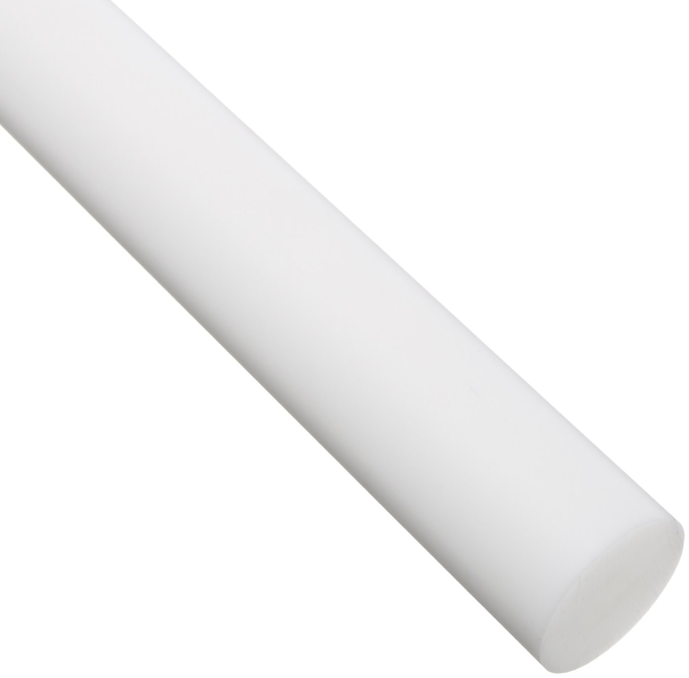 Acetal Round Rod, Opaque White, Meets ASTM D6100, 1/2' Diameter, 3' Length 1/2 Diameter 3' Length Small Parts Inc 902733