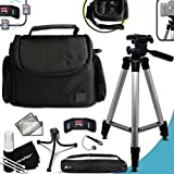 """Premium Well Padded Camera CASE / BAG and Full Size 60"""" inch TRIPOD Accessories KIT for Nikon Coolpix P900 P610, P600, P530, P340, L840, L830, L820, L810, L330, L320, L620, L610, P7800, P7700, P4, P3, AW130, AW120, AW110, AW100, S810c, S9900, S7000, S6900, S3700, S2900, S33, S32, S9700, L32, L31 L30, L28, L26, L120, L110, L100, L310, L24, L22, L20, L19 S210, S205, S520, S510, S500, S200, S700, S600, S750 Digital Cameras"""