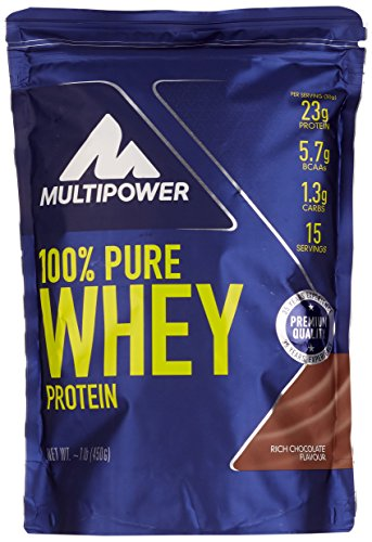 Multipower 100% Whey Protein Choco 450 g, 1er Pack (1 x 450 g)