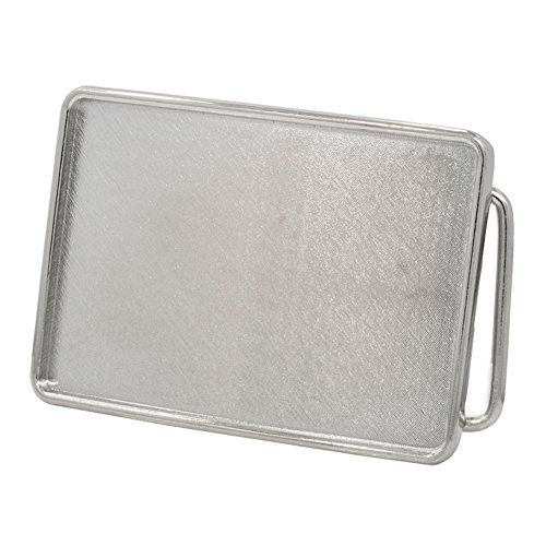 Buckle Rage Rectangle Blank Custom Large (Silver Buckle)