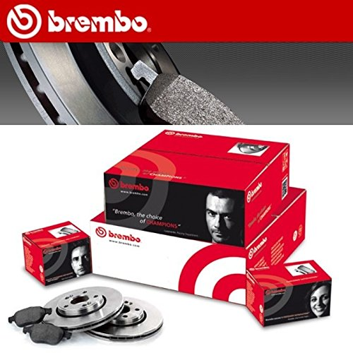 Brake discs and pads Brembo Post 08.4931.24 + P24047