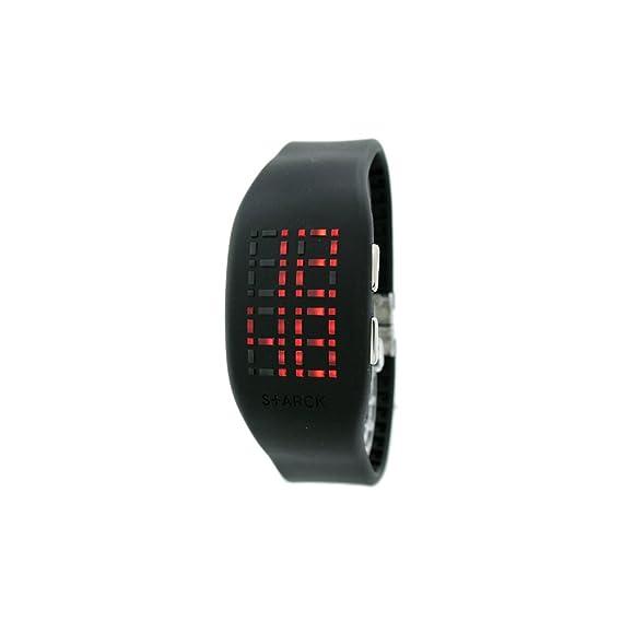 Philip Starck Philippe Starck - Reloj digital de cuarzo para hombre con correa de acero inoxidable, color plateado: Amazon.es: Relojes