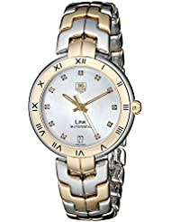TAG Heuer Womens WAT2351.BB0957 Diamond-Accented 18k Gold and Stainless Steel Automatic Watch