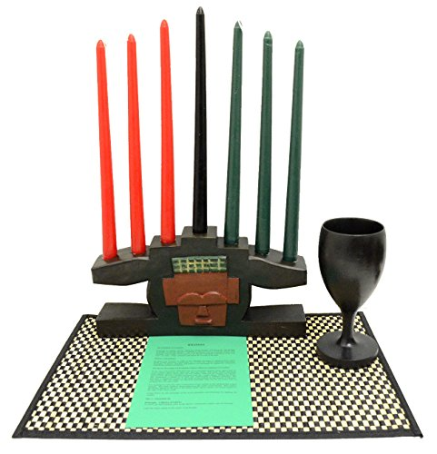 Kwanzaa Mask Candleholder & Celebration Set - Made in Ghana
