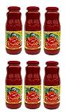 jar of tomatoes - La Valle: Tomato Puree Organic and Kosher with Basil - Net Weight 24 Oz.- 6 Glass Jars