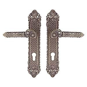 Acs Classic Door Handle, Antique Brass