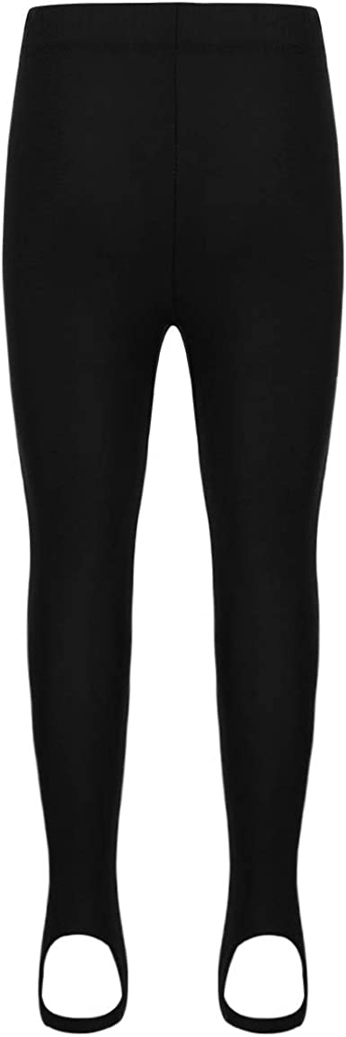 moily Kids Girls Boys Stirrup Legging Pants for Gymnastics//Dance//Sport//Workout Athletic Tights
