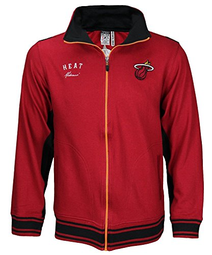 Miami Heat NBA Youth Team Color Warm Up Jacket, Red (Youth Medium)