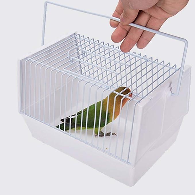 Qazxsw Jaula Rectangular para pájaros exóticos pequeños y Canarios Accesorios para la cría de Aves, hogar al Aire Libre Negro