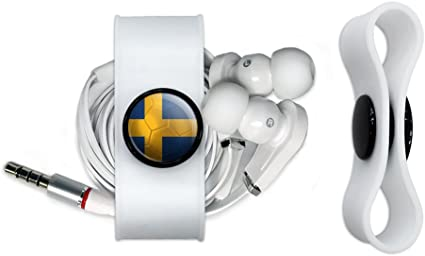 Bandera de Suecia balón de fútbol Futbol fútbol auriculares Cable ...