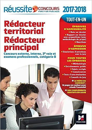 18c878a8816 Amazon.fr - Réussite Concours Rédacteur territorial Rédacteur principal  catégorie B. 2017-2018 Nº59 - Bruno Rapatout