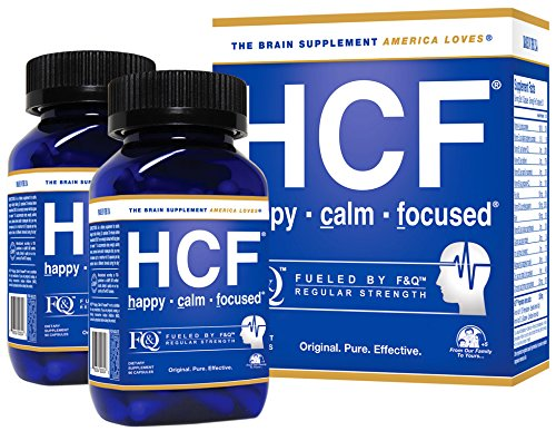 Brain Supplement for Memory, Focus, Attention, Mood. Increase Energy, Concentration, Clarity, Alertness. Improve Learning Abilities, Sleep Quality. Neuro Booster with Amino-Acids, Vitamins. 2 Bottles. by HCF