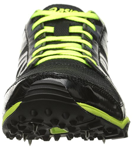 Asics Mens Hyper Xc Cross Country Spike Nero / Giallo Flash / Carbonio