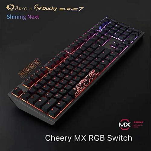 7 Service rétroéclairé USB Clavier de Jeu mécanique Clavier Clavier LED Gunmetal (Switch Rouge) kyman (Color : Cherry MX Red Switch)