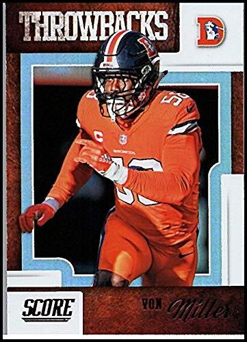 2019 Score Throwbacks #16 Von Miller Broncos Football Card - Miller Football