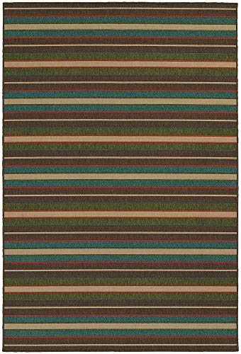 Tommy Bahama Seaside 7.10 X 10.10 Indoor/Outdoor Rug By Oriental Weavers - Brown & Multi (Bahama Tommy Outdoor Rugs)