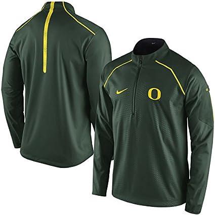963ccdf24e09 Amazon.com   NIKE Oregon Ducks O Alpha Fly Rush Green 1 4 Zip Jacket ...