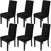 Awland Dining Chair Slipcovers Protector Removable Short Stretch Spandex Dining Room Banquet Chair Seat Cover for Kitchen Bar Hotel and Wedding Ceremony