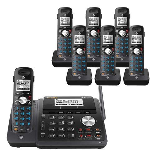 AT&T TL88102BK 2-line answering System with 6 Handsets (TL88002BK) Black