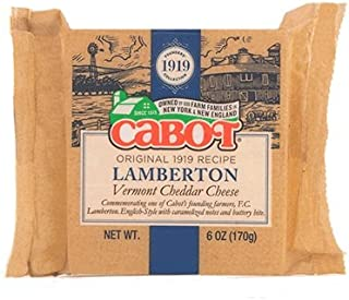 product image for CABOT Lamberton Cheddar Cheese Bar, 6 Ounce (Pack of 12)
