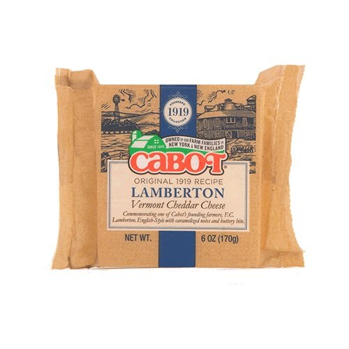 CABOT Lamberton Cheddar Cheese Bar, 6 Ounce (Pack of 12)