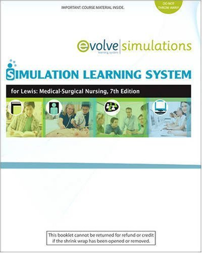 Simulation Learning System For Lewis: Medical-Surgical Nursing by Sharon L. Lewis RN PhD FAAN (2008-11-28)