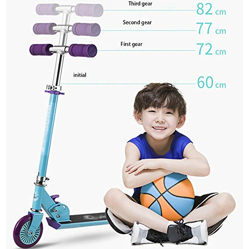 FDSjd Scooter Collapsible Lift Scooter Two-Wheeled Scooter Beginner Big Boy Comfortable Sliding Scooter (Color : Red) by FDSjd (Image #7)