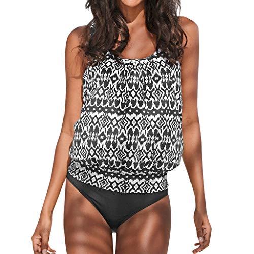 iTLOTL Women Tankini Sets with Boy Shorts Ladies Bikini Set Swimwear Push-Up Padded Bra