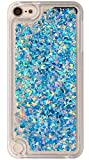 ipod 5 case light blue - iPod touch 6th 5th Generation Case Quicksand Liquid Twinkle Diamond Design, Touch6 Touch5 Case Waterfall Floating , Adorable Flowing Moving Glitter Hard PC Case For iPod 5 and iPod 6 Blue Diamond