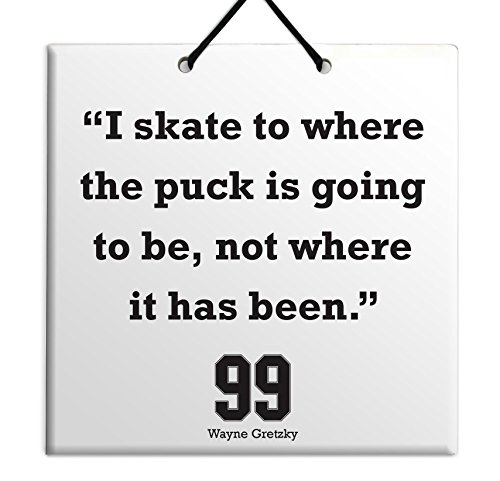 Wayne Gretzky Quote Ceramic Wall Hanging Art Sign - Where Is Rand