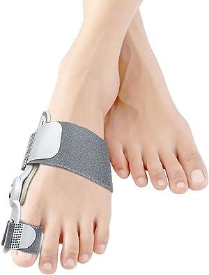 Bunion Corrector, Orthopedic Bunion Splint Toe Straightener Bunion Corrector Big Toe Splint for Sprain Foot Brace for Bunions - Grey 02