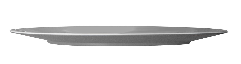 Mebel EA14-M02MV-GRY Oblong Serving/Charger Plate in 2-Tone, Outside Gray Inside White Roden International