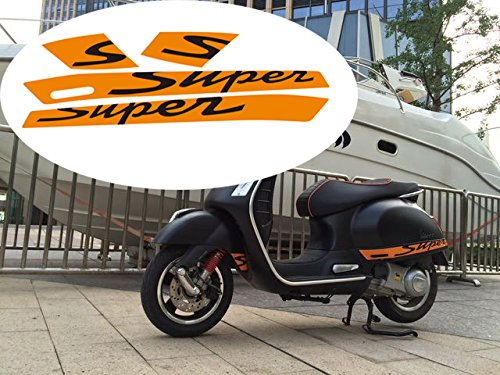 PRO-KODASKIN 2D Decal Sticker Super for Vespa GTS300 Sport Fits gts with the two long vents in each panel (1)