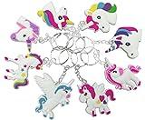 Kyпить O'Hill 40 Pack Rainbow Unicorn Keychains Key Ring Decoration Birthday Party Favor Supplies на Amazon.com
