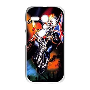 Motorola G Cell Phone Case White Iron Maiden 001 Delicate gift JIS_387026