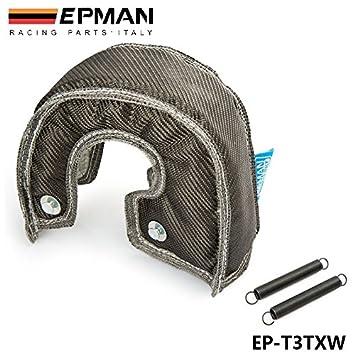 EPMAN fibra de carbono Turbo escudo térmico de la cubierta de la manta de alto rendimiento para T3 / GT37 GT30 EP-T3TXW: Amazon.es: Coche y moto