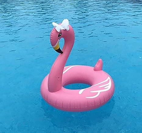 90cm Aufblasbarer Kinder Flamingo Pool Floß Durch Kinder Aufblasbarer Flamingo Schwimmring Luftmatratzen