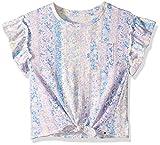 Lucky Brand Big Girls' Short Sleeve Fashion Top, Whisper White S
