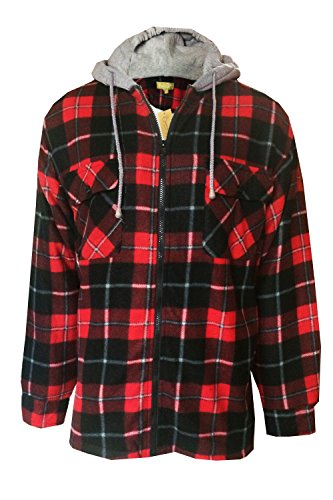Loungeable Boutique Bruno Galli FJ417 Mens Check Jacket - Red/Black - Large