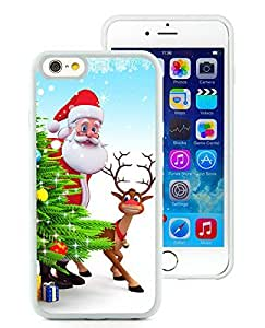 Personalization iPhone 6 Case,Santa Claus and Deer White iPhone 6 4.7 Inch TPU Case 2