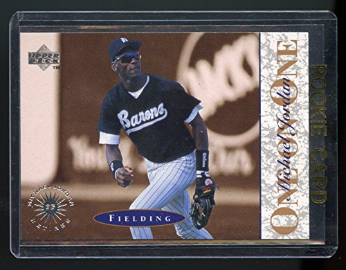 1995 Upper Deck #2 One on One Michael Jordan Fielding White Sox Rookie Card - Mint Condition Ships in a Brand New Holder ()