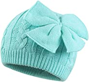 JANGANNSA Winter Warm Baby Hat Cute Bow Girls Beanie Hat Knitted Infant Toddler Cap 0-3 Years